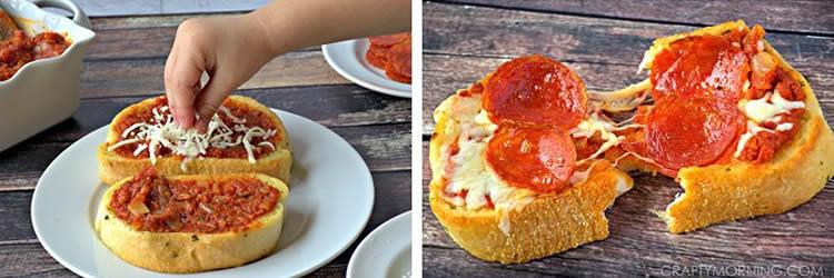 Mini pizzes individuals per fer amb els petits cuiners