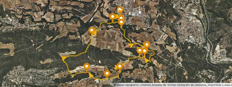 Ruta circular de La Torre de Claramunt a Vilanova d'Espoia