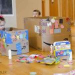 Caixes de cartró per jugar