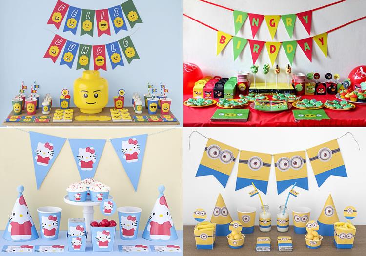 Imprimibles per decorar una festa infantil
