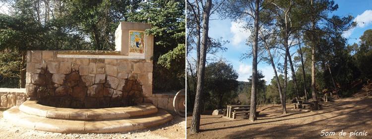 Zona de pícnic a l'ermita de Sant Medir