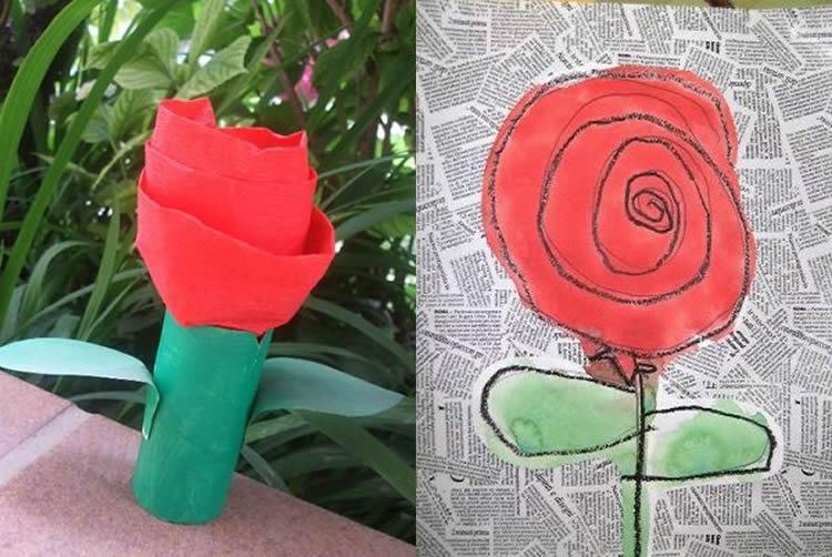 Roses de Sant Jordi per fer amb nens