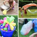 jocs d'aigua i gel per jugar a l'exterior