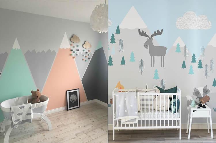 Muntanyes a l'habitacio dels nens
