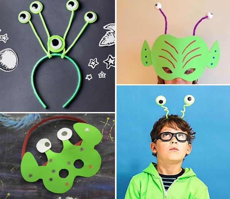disfressa d'extraterrestre per a nens