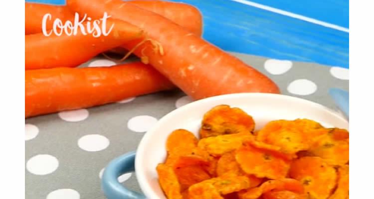 Snacks saludables de pastanaga