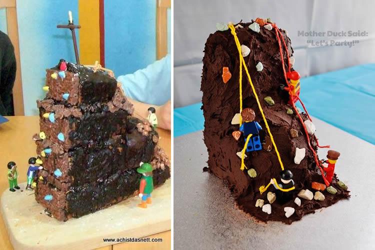 Pastissos d'aniversari per a petits escaladors