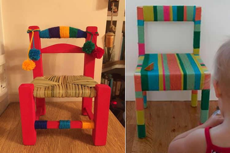 idees de com personalitzar cadires infantils