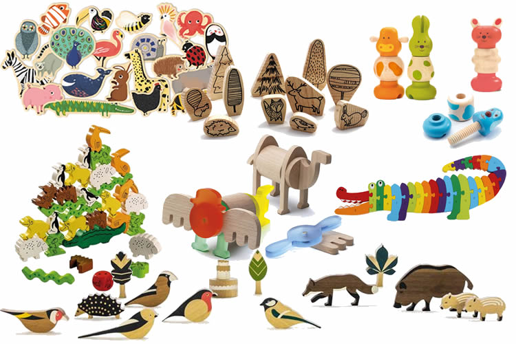 jocs de fusta d'animals