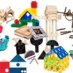 jocs de peces per fer construccions i escultures