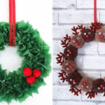 corones de Nadal per la porta
