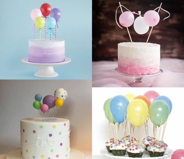 pastís decorat amb globus