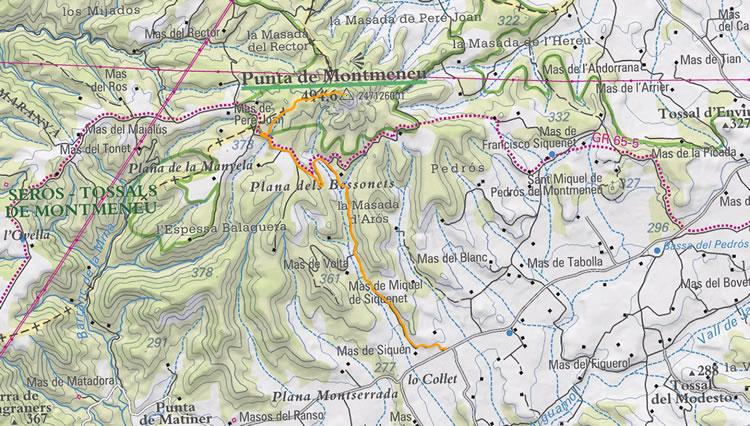 Punta de Montmeneu a Seròs