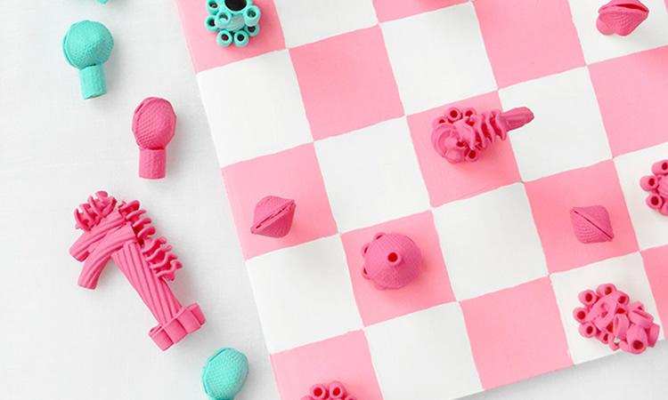 com fer un joc d'escacs amb pasta