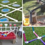 Tubs de PVC per fer jocs d'exterior d'estiu