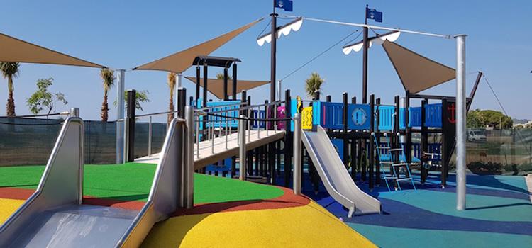 Parc de la platja del Poblenou a Pineda de Mar
