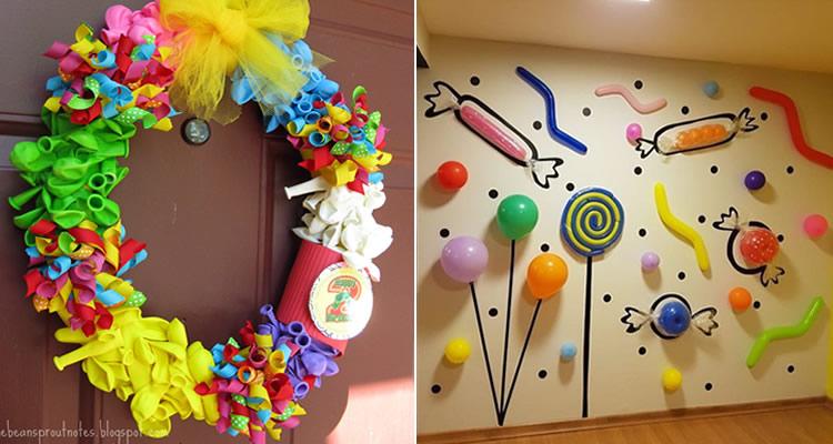 Jocs amb globus per a una festa