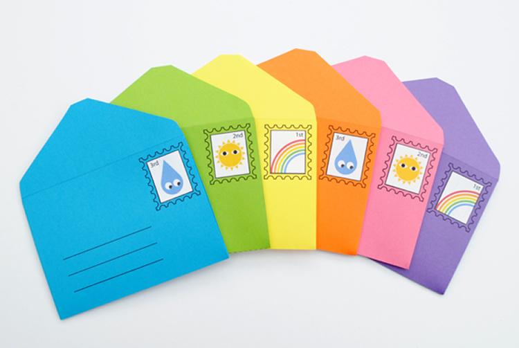 com fer un sobre carta amb cartolina
