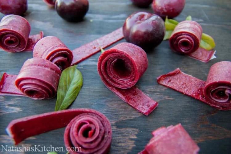 Fruit roll-ups, pica-pica de fruita deshidratada
