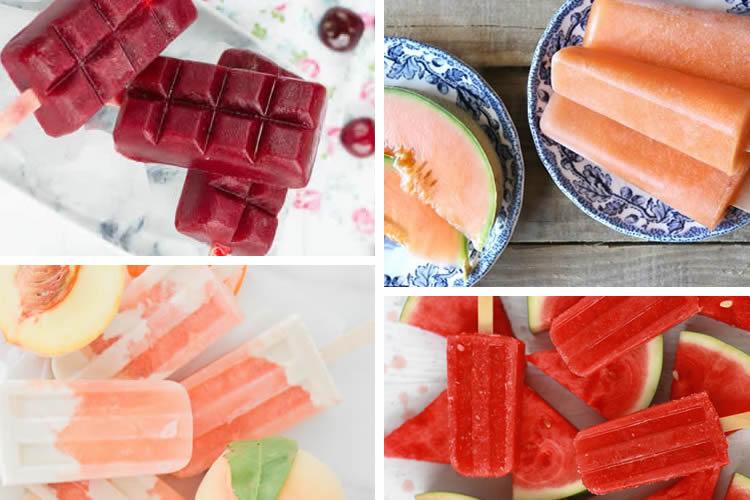 gelats de fruites d'estiu