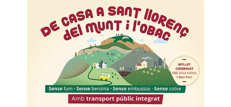 Parc Natural Sant Llorenç-Obac, amb transport public