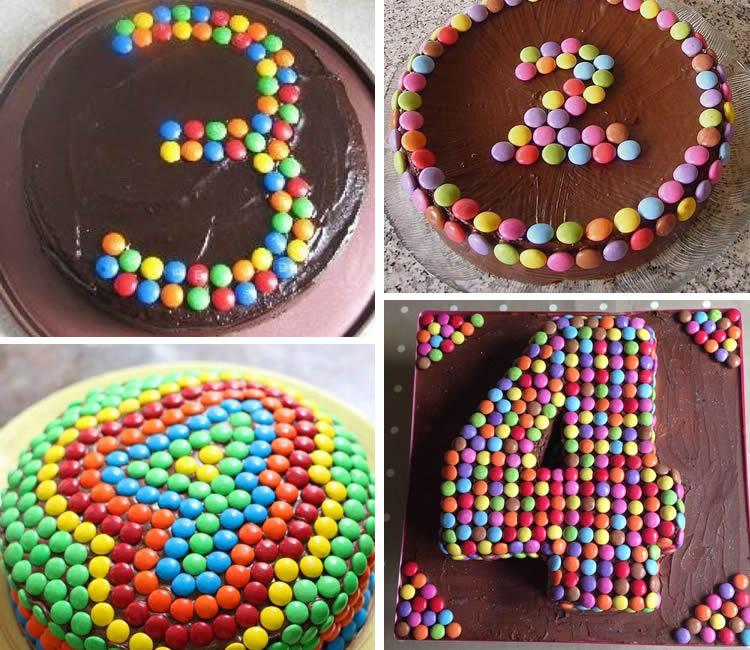 cIdees de com fer números de lacasitos en un pastís
