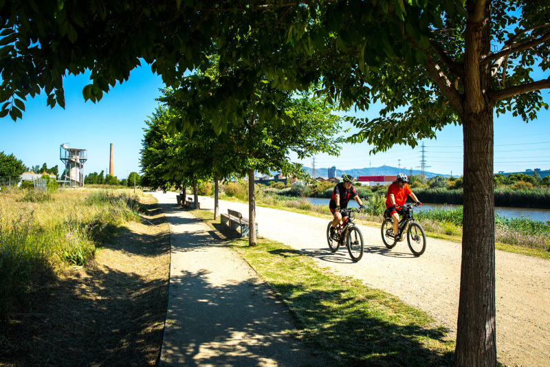 bici Parc del Riu al Prat de Llobregat