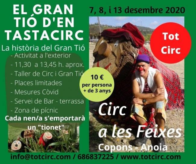 Festa del Tió al Circ a les Freixes