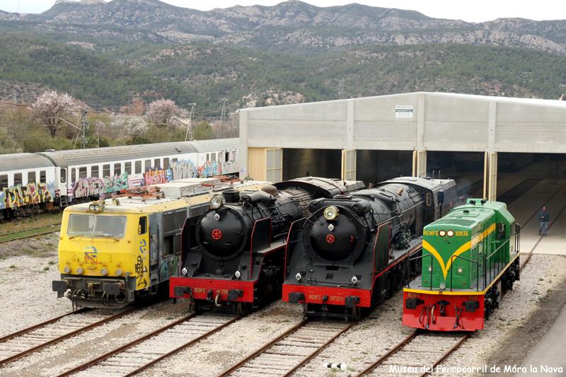 Cotxera del tren històric turístic