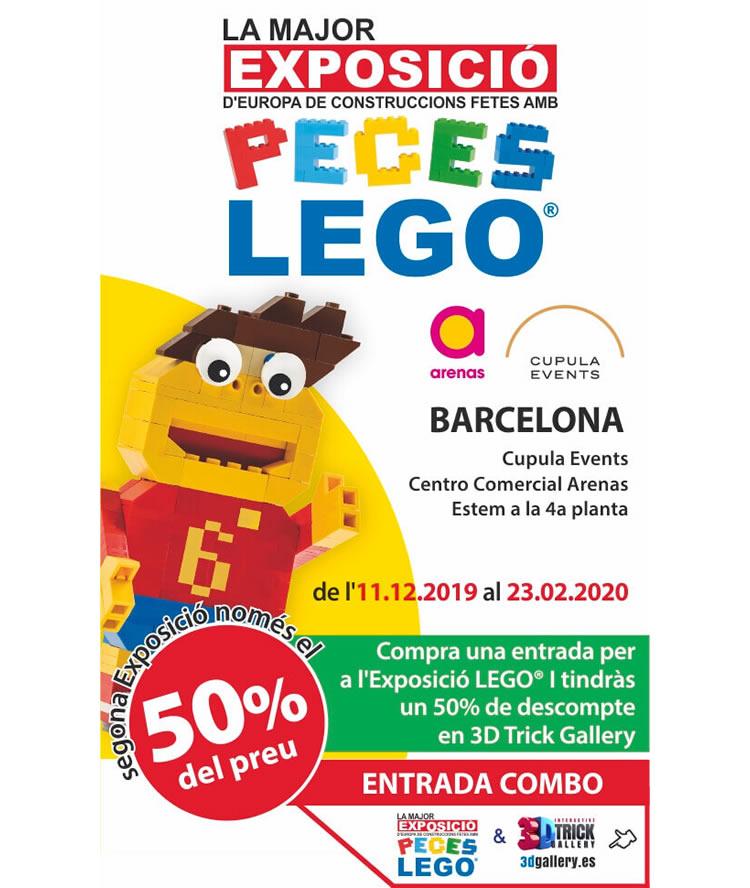 Exposició Lego a les Arenes de Barcelona