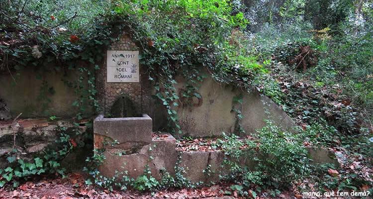Cami de les Arenes a Castellar del Valles font romaní