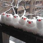 Ninots de neu originals ocells