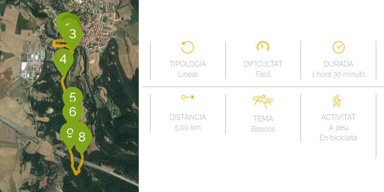 Ruta a la Font de la Riera a San Joan de Vilatorta mapa