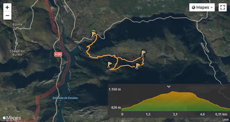 Ruta de la Fauna de Montiberri mapa