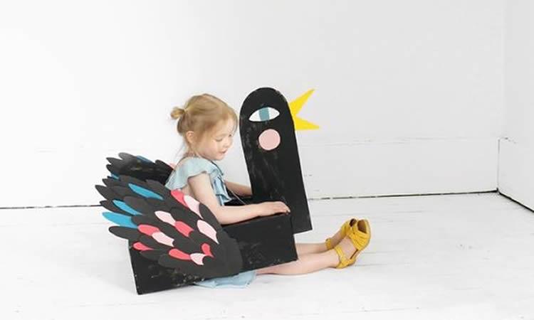 caixes de cartró per a disfresses ocell