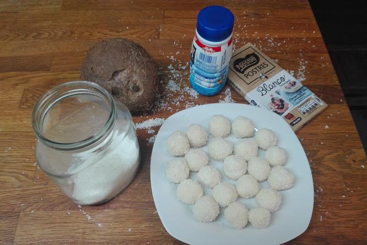 recepta trufes de xocolata blanca