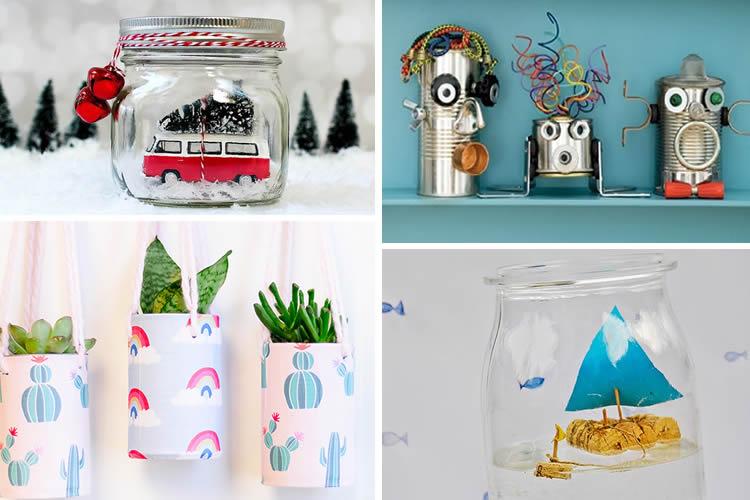 com reutilitzar llaunes i pots de vidre