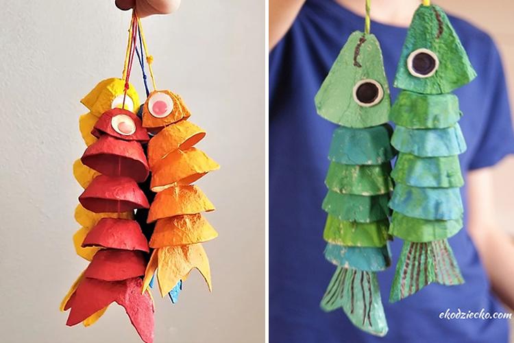 creatius animals amb oueres peixos
