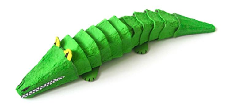 creatius animals amb oueres cocodril