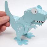 Imprimibles gratuïts de dinosaures format 3D