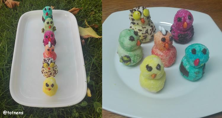 5 postres de Pasqua ocells coco