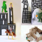 castells de Sant Jordi per fer amb nens per muntar