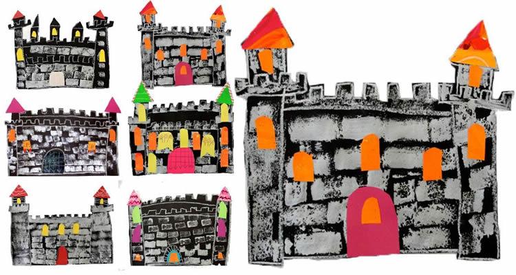 castells de Sant Jordi per fer amb nens dibuixar