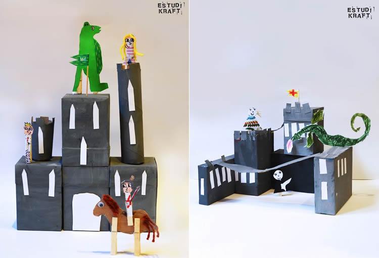 castells de Sant Jordi per fer amb nens Estudi Kraft