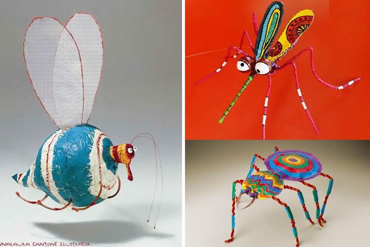 fem una col·lecció d'insectes inventats