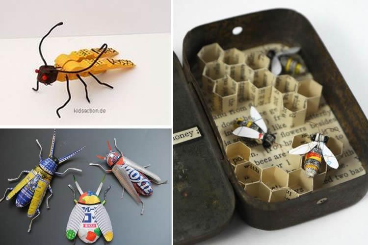 fem una col·lecció d'insectes inventats abelles