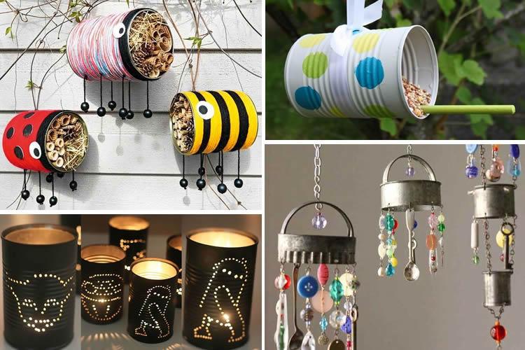 llaunes decorades per posar al jardí o balcó