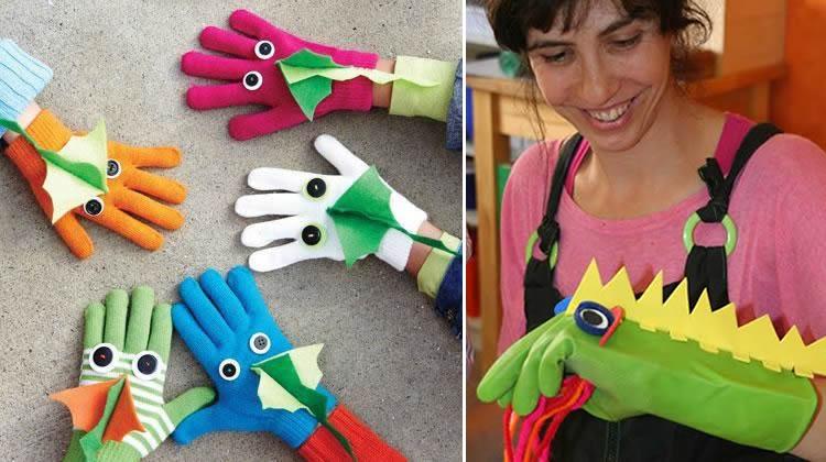 manualitats amb guants dracs