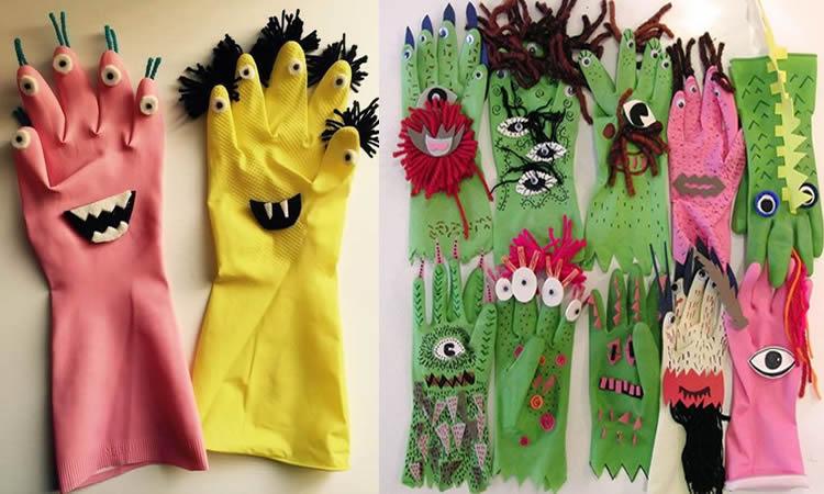 manualitats amb guants de goma