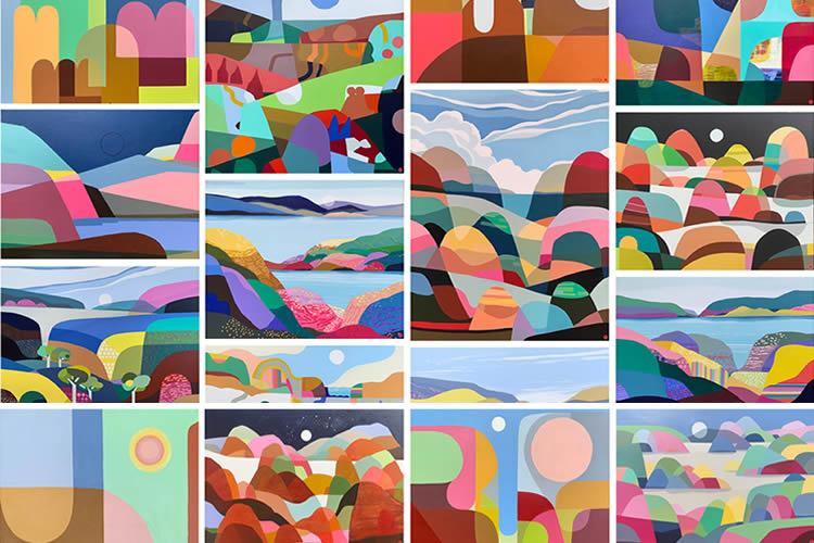 Greta Laundy i els paisatges ondulats